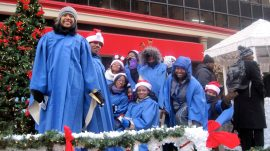 Chicago West Community Music Center students participated in Chicago's Thanksgiving Day parade in downtown Chicago Nov. 27. (Courtesy Chicago West Community Music Center)