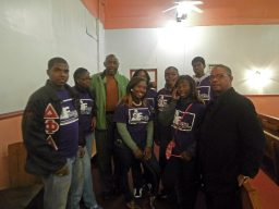 Commissioner Robert Steele with the West Garfield Park Youth Council