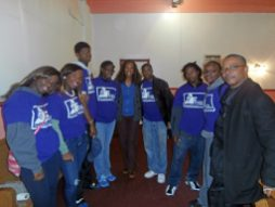 State Rep. Lilly with the West Garfield Park Youth Council