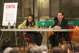 Cook County Commissioner responds to questions during the Chicago Women Take Action Alliance Mayoral Forum on Saturday, January 24, 2015. (Chandler West/Staff Photographer)