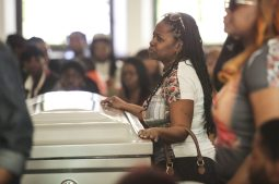Patricia Chatman during his funeral service. (Chandler West/Staff Photographer)