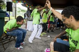 On June 10, youth leaders with the Westside Health Authority led a peace march from the 15th District police station at 5701 W. Madison to Columbus Park, 5701 W. Jackson Blvd., where participants were treated to food, fun and music. | William Camargo/Staff Photographer
