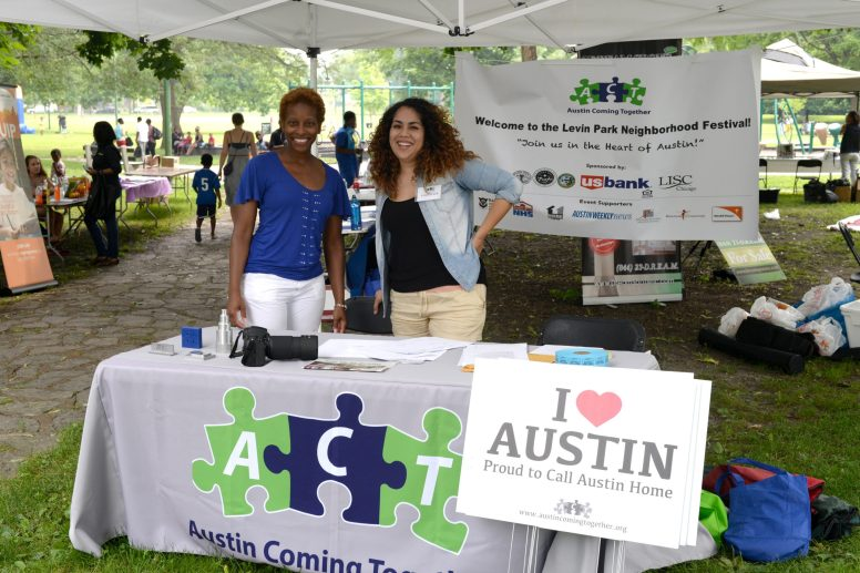 Kashanna Eiland and Raquel Rocha manning the ACT welcome table