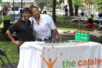 Sharon Morgan (left) and associate from Catalyst Schools