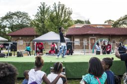 Rapper Lil Prada performs at Moore Park in the Austin neighborhood where National Night Out took place on Tuesday, August 4. | Alex Wroblewski/Contributor