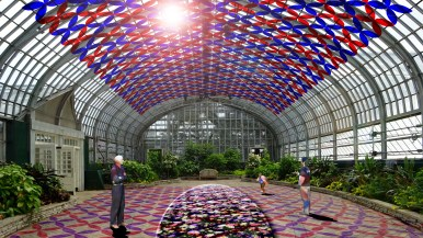 A rendering of the light installation to be exhibited at Garfield Park Conservatory starting in September. Garfield Park Conservatory.