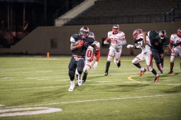 Al Raby Raiders on the field against Hubbard Thurs. Sept 10, 2015. The Raiders won 38-26 to go 3-0 on the season, their best start since 2008. | Max Herman/Contributor.