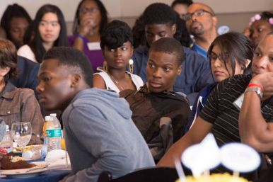 New participants in Exelon's Stay in School initiative listen to motivational speakers during the after school program's 10th year anniversary ceremony held Saturday, Sept. 19, 2015, at Navy Pier. | Photo submitted.