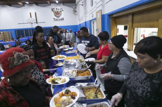 Roughly 60 people attend the 10th Annual Soul Food Pow Wow at St. Paul Lutheran School in Austin on Nov. 22.