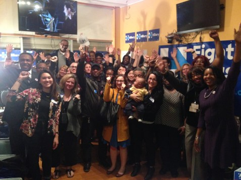 Hillary Clinton supporters inside her West Side campaign office during its March 8 grand opening. | Michael Romain/Staff