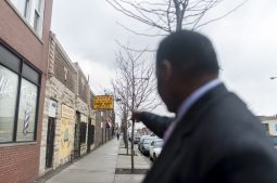 Rev. Joseph Kyles stands outside of his Austin church on April 7. Kyles is looking to purchase new property on Chicago Avenue, down the street from his current church edifice, in order to expand the church's social service offerings. | William Camargo/Staff