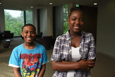 Olivia Teller and Jacob Christian, both 13-year-old KIPP Ascend students, spent three weeks in Dominican's Education Reading Academy Program. By the program's end, the two had brainstormed ways Chicago might deal with police abuse. | Courtesy Dominican University
