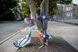 A makeshift memorial across the street from 2nd Mt. Olive Missionary Baptist Church on Aug. 3. | William Camargo/Staff