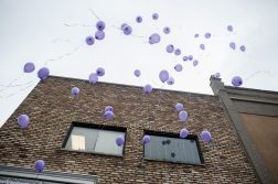 Balloons float above Deer Rehabilitation Services in North Lawndale on Oct. 15. | William Camargo/Staff