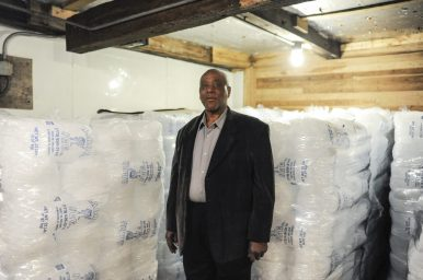 Walter Harris, owner and founder of Harris Ice, inside of his facility. | William Camargo/Staff