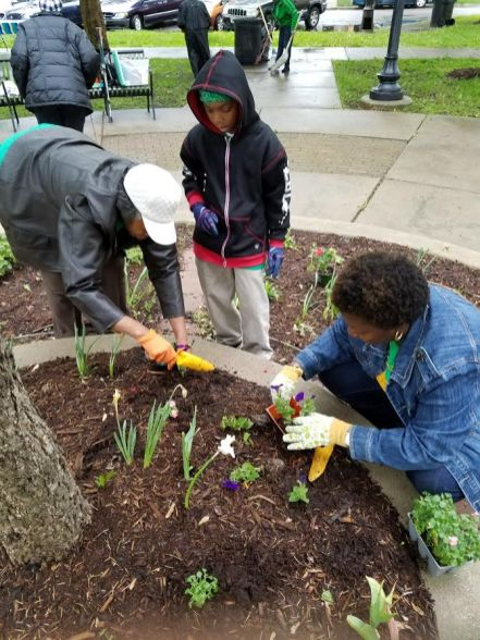 Austin Green Team members, and community volunteers, spruce up the Green Team's Memorial Garden on Laramie and Washington. | Submitted photos