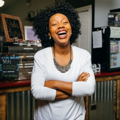 BREWING RESISTANCE: Reesheda Graham-Washington, inside of L!VE Cafe in Oak Park. | Submitted photo