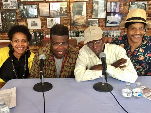 From left: WBEZ's Ayana Contreras, Avery Young, Larry Taylor, Jarvis Mason