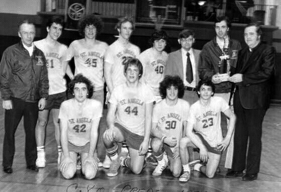 Many young and not so young athletes love to relive their years of glory in the gym, or on the field, or on the court. Pictured here, the St. Angela basketball squad, 1977.