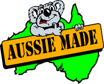 Aussie Made Sign Held By Koala