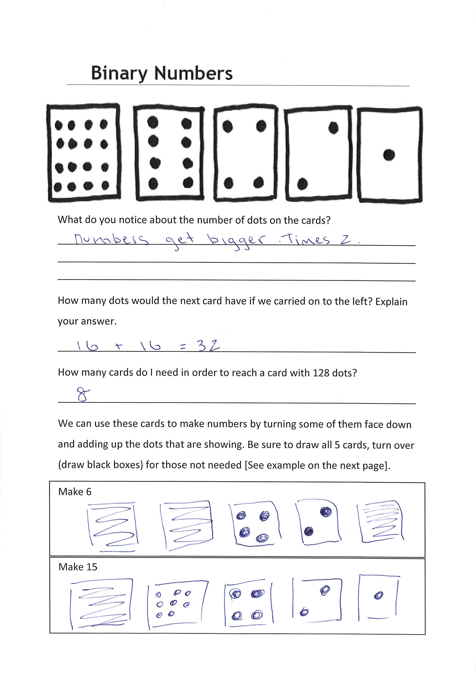 Worksheet On Adding Binary Numbers