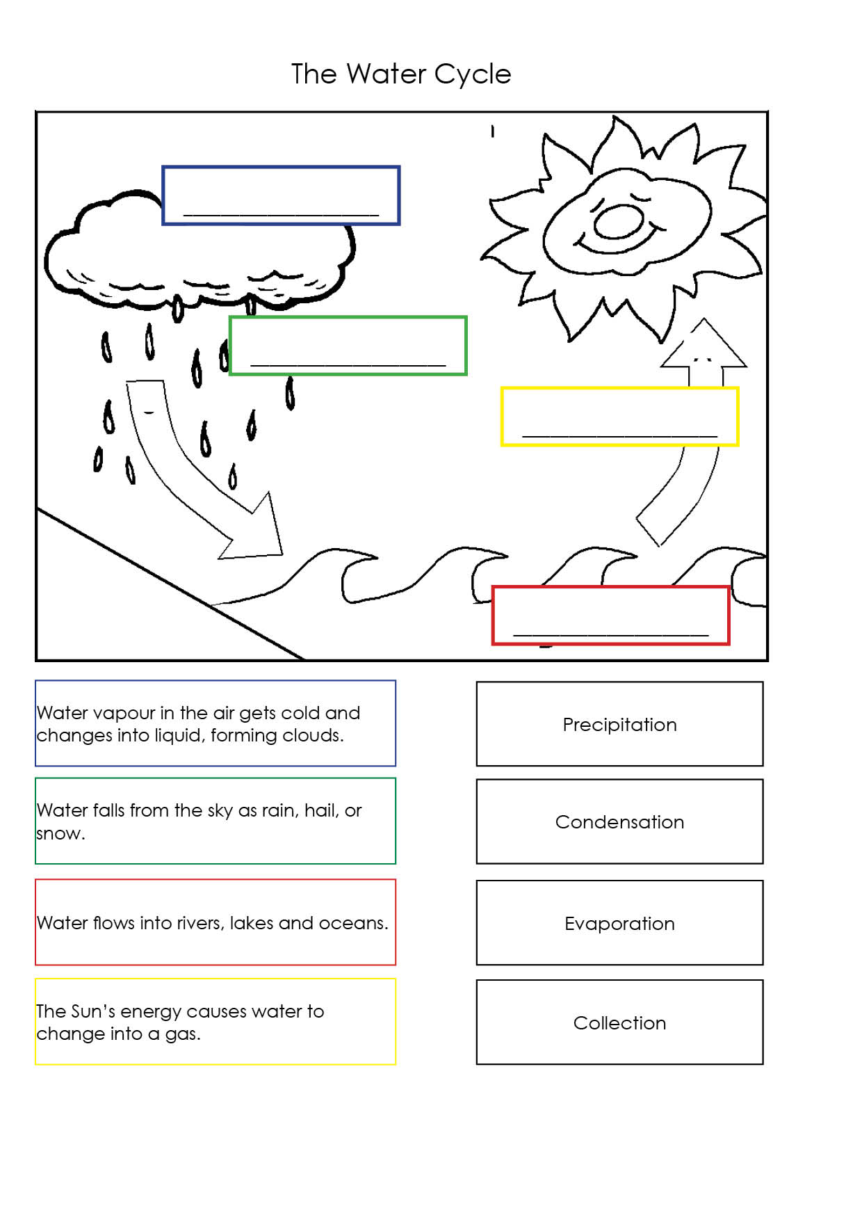Water Cycle Worksheet