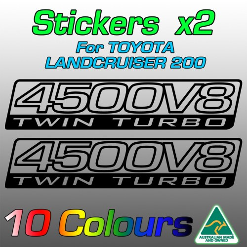 4500V8 Twin Turbo stickers for LandCruiser 200