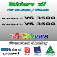 ECI MULTI V6 3500 stickers for Pajero and Delica