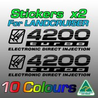 4200 turbo ELECTRONIC DIRECT INJECTION stickers for Landcruiser 100