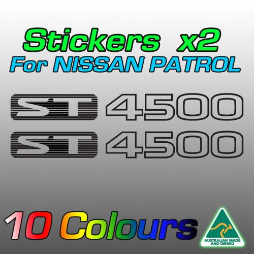 ST4500 stickers for the TB48 Nissan patrol