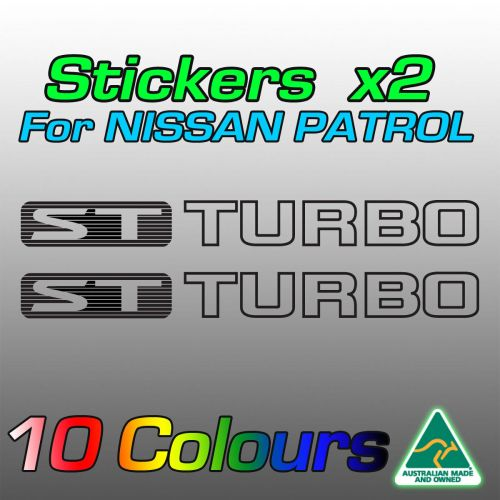 ST TURBO stickers for the TD42 Nissan patrol