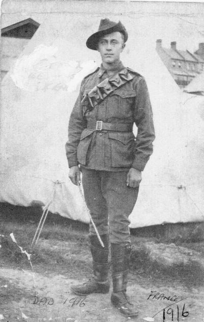 Василий Грешнер. Франция, 1916