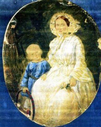 Коля Ильин с матерью Евгенией