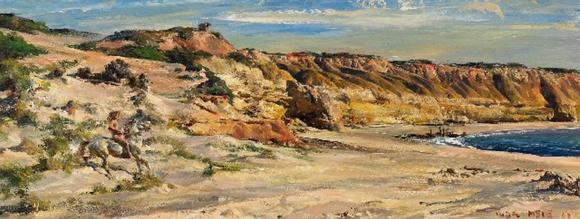 Айвор Хил. Willunga Beach, coastal landscape 1963
