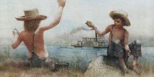 Роберт Ингпен. Иллюстрация из книги «Приключения Тома Сойера»