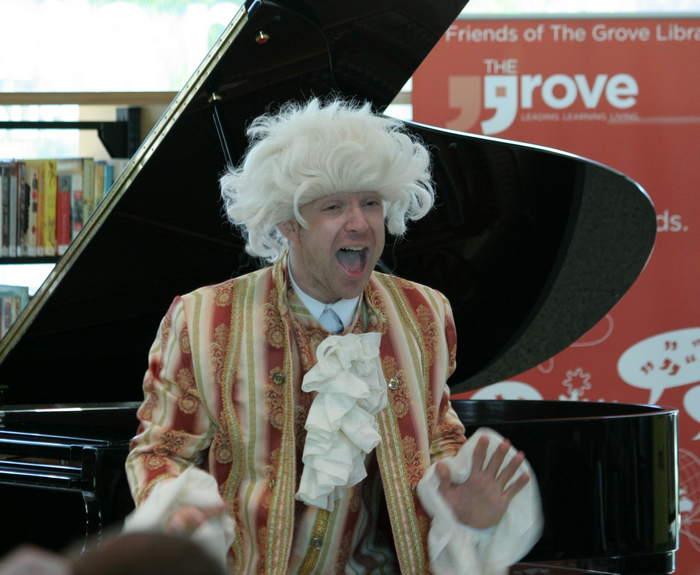 Aksel Kolstad— pianist &unusual comedian. Mozart was intown!