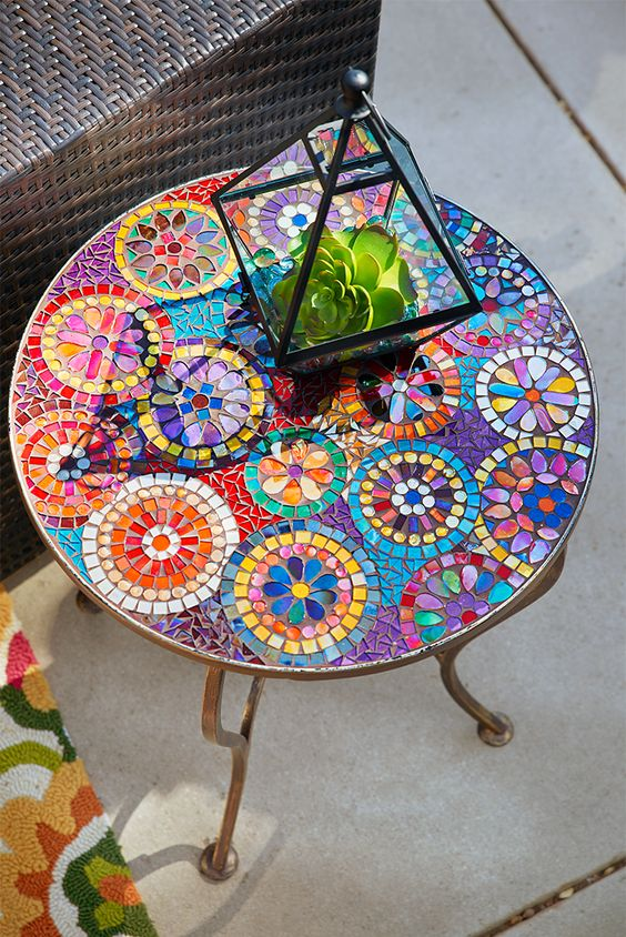 Jazz Up Your Backyard with this DIY Mosaic Table on Outdoor Living Iron Mosaic id=46619