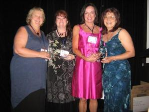 (L-R): Anna Campbell, Sherrilyn Kenyon, Melanie Milburne, Stephanie Laurens