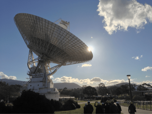 Guided walking tour of DSS-43