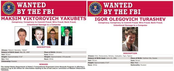 USA : une récompense record de 5 millions de dollars pour trouver deux hackers russes