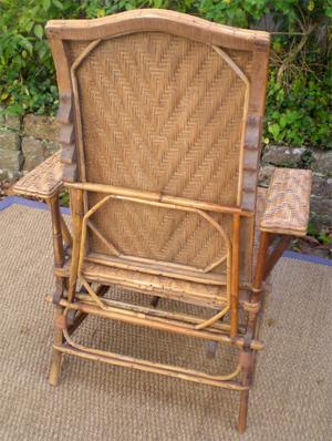 Chaise Longue Ancienne En Rotin