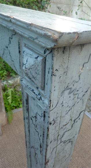 Tete De Chemine Ancienne En Bois Peint Deco Marbre