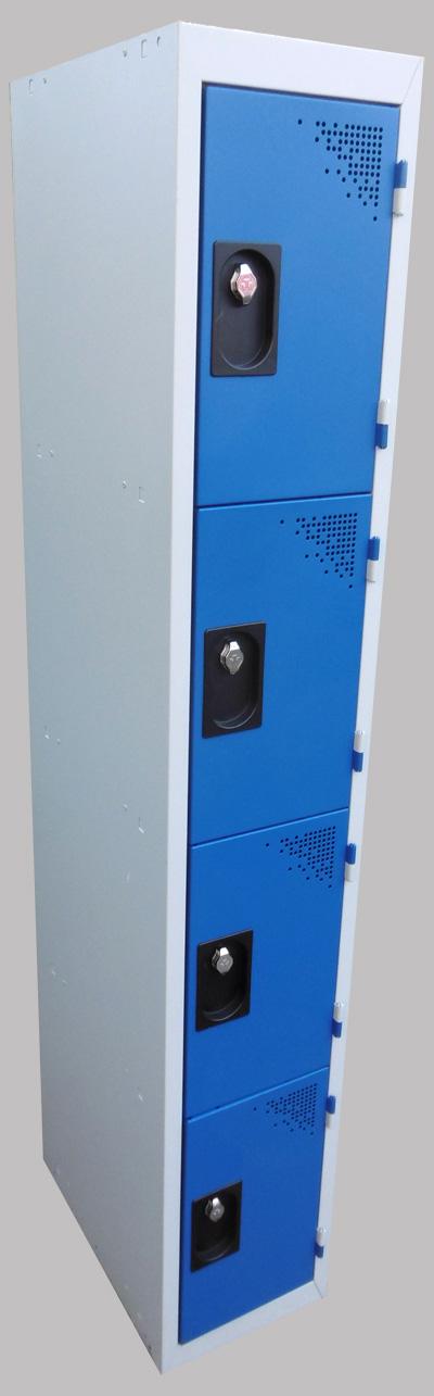 Armoire Mtallique Vestiaire Industriel 1 Colonne 4 Cases