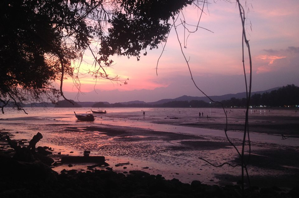 Photo of the Sunset in Ao Nang, Kabi, Thailand taken by Hannah Cackett owner of Authentic Gems travel blog
