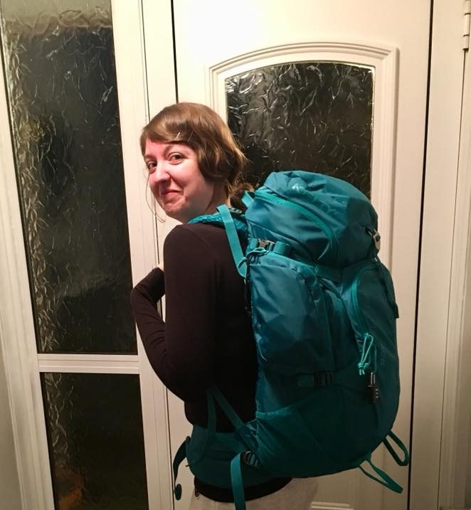 Me all ready with my backpack before my first solo backpacking trip around South East Asia