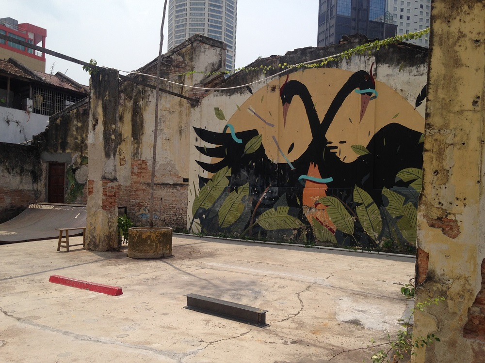 Photo of the skatepark at Hin Bus Depot in Georgetown, Penang, Malaysia - by Hannah Cackett (Authentic Gems Travel)