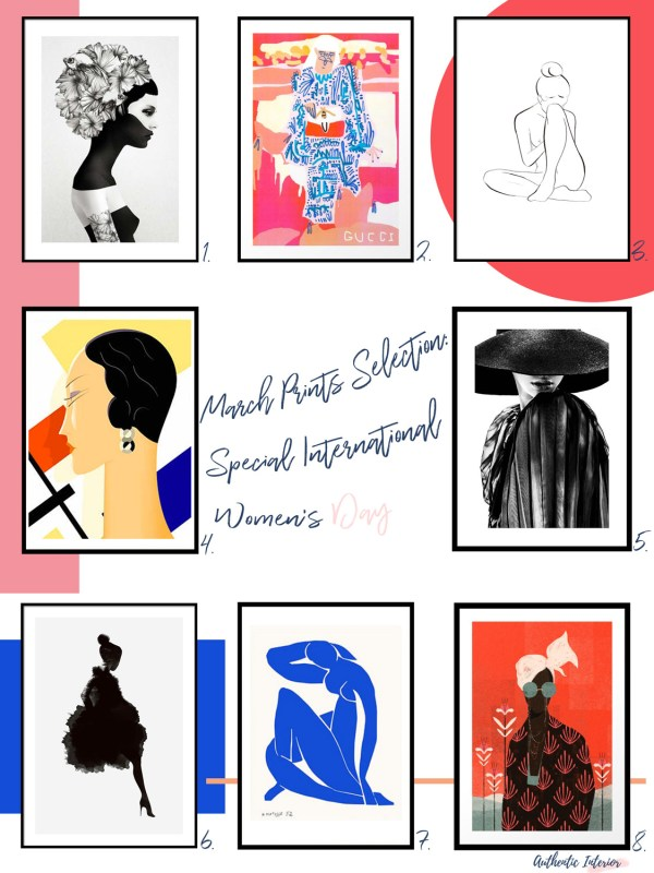 Affordable Art Prints Selection Special Women's Day