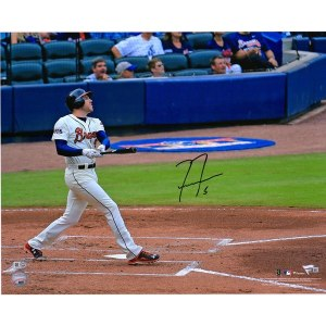 Autographed Atlanta Braves Freddie Freeman Fanatics Authentic 16'' x 20'' Watching Ball Photograph