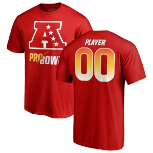 Men's AFC Fanatics Branded Red 2019 Pro Bowl Pick-A-Player Roster Name & Number T-Shirt