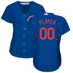Women's Chicago Cubs Majestic Royal Alternate Cool Base Custom Jersey